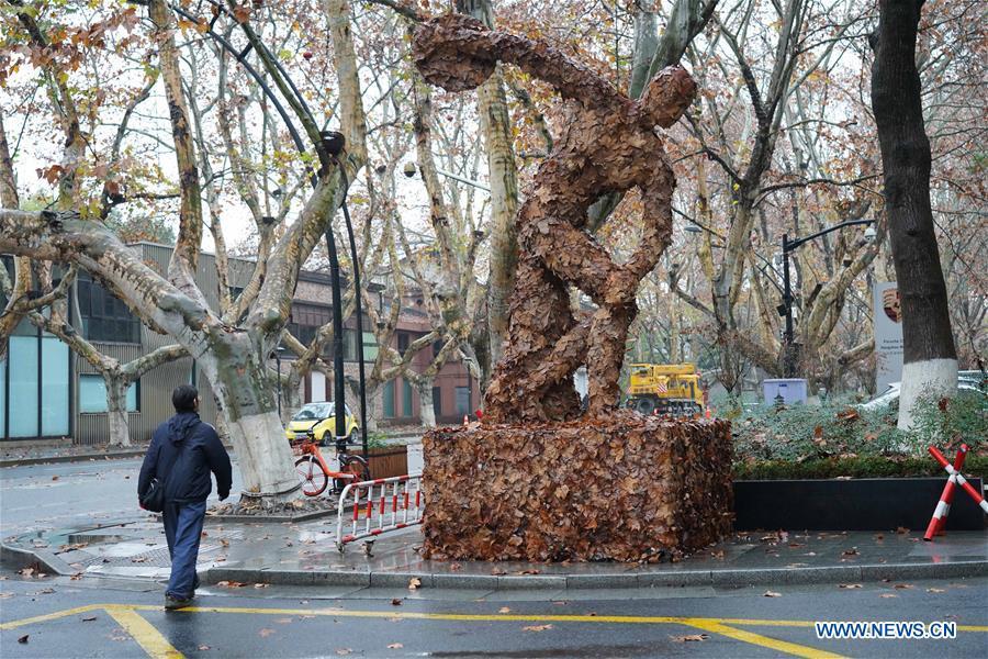 3rd autumn leaves art exhibition opens in Hangzhou – Xinhua   English.news.cn – Xinhua
