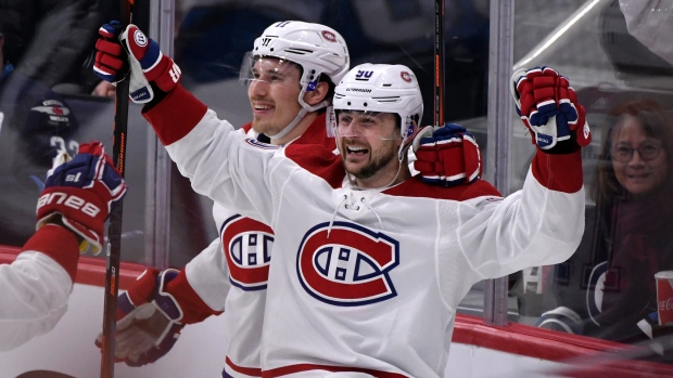 Tatar, Danault each score two goals as Canadiens rout Jets – TSN