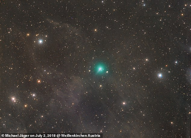 Comet FIVE times the size of Jupiter is set to light up the night sky – Daily Mail