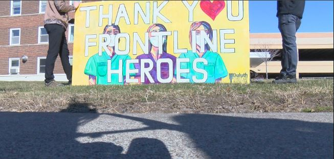 Street art made to say 'thank you' to frontline workers – KBJR 6